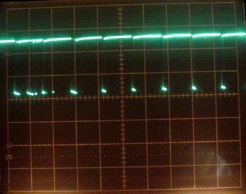 パスコンありの出力波形
